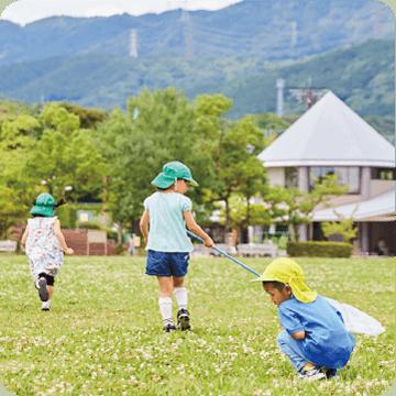 戸外遊び(桧原運動公園)